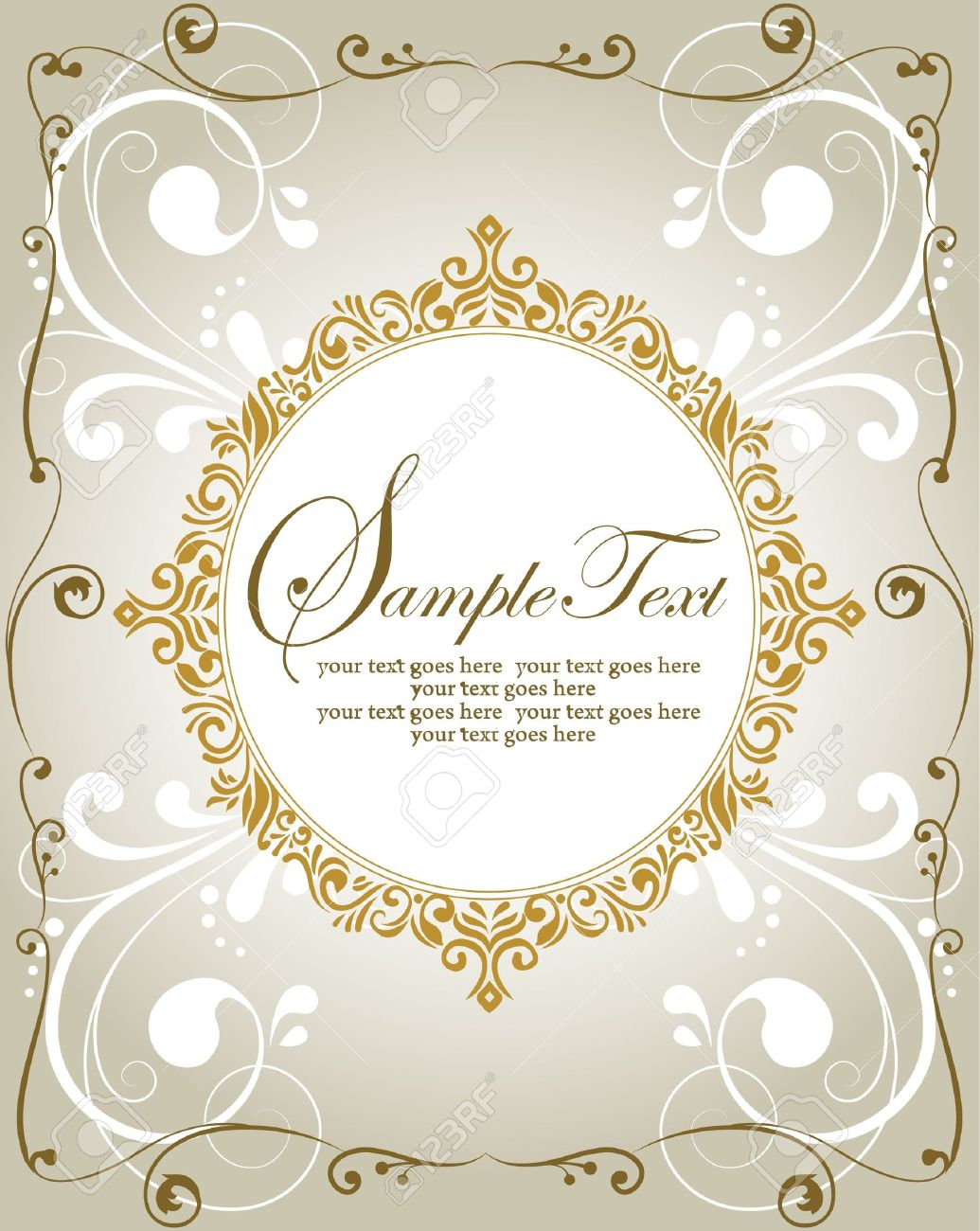 template frame design for greeting card or invitation royalty template frame design for greeting card or invitation stock vector 18066731