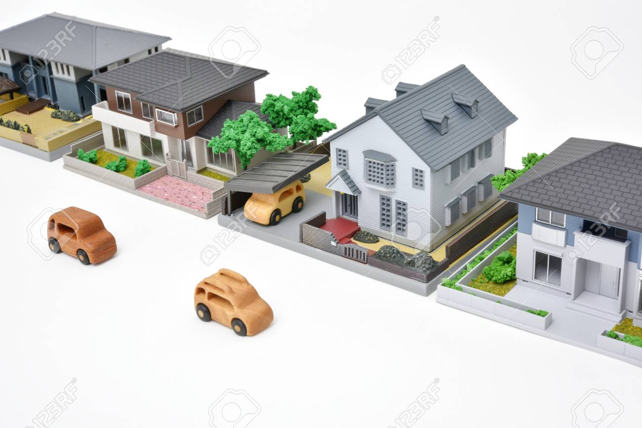 Awe Inspiring Image Of Residential Area Wooden Cars And Miniature Houses Download Free Architecture Designs Scobabritishbridgeorg