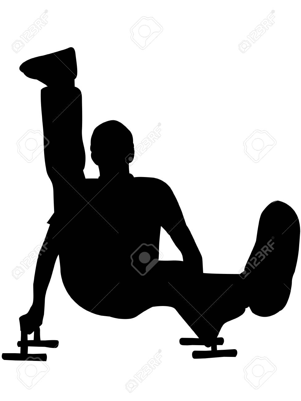 man doing excercise for fitness on isolated white background Stock Photo - 3523777