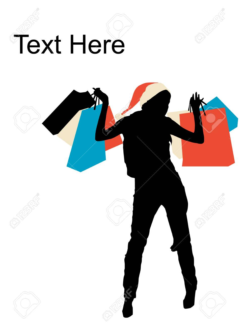 standing female holding shopping bags Stock Photo - 3844327