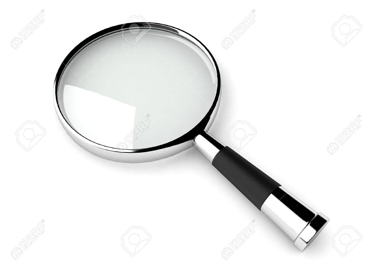 three dimensional magnifiying glass against white background Stock Photo - 3924271