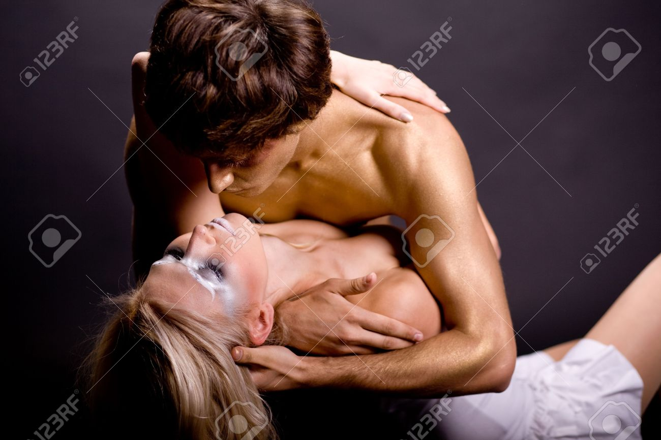 Romantic Couple Making Out