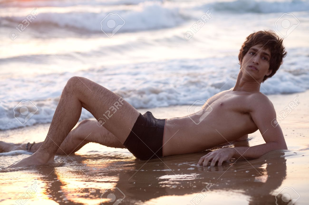 Handsome Male Model By The Beach