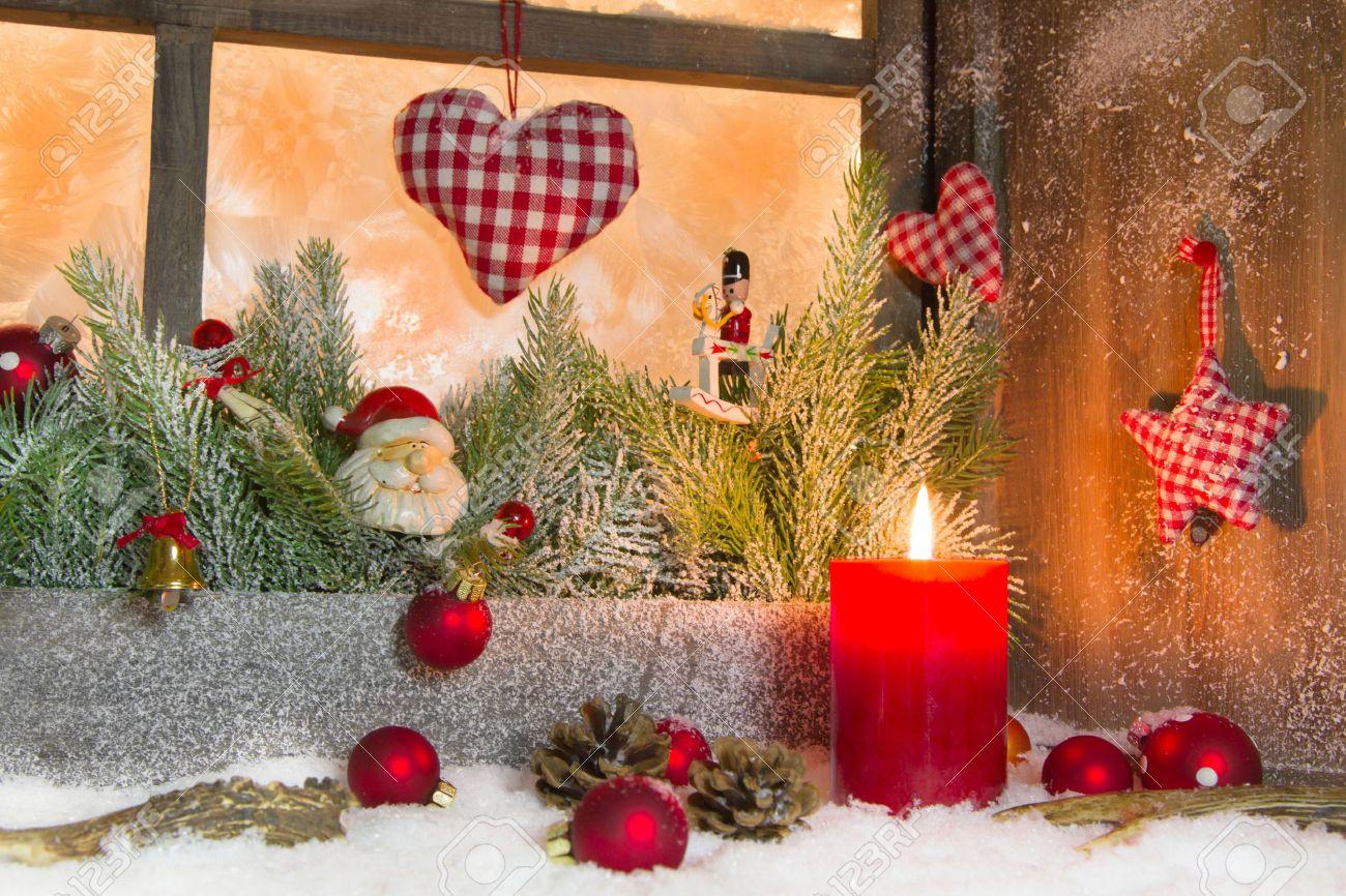 Landhausstil deko weihnachten  Rustikale Laterne Mit Kerzenlicht Für Weihnachten - Klassische ...