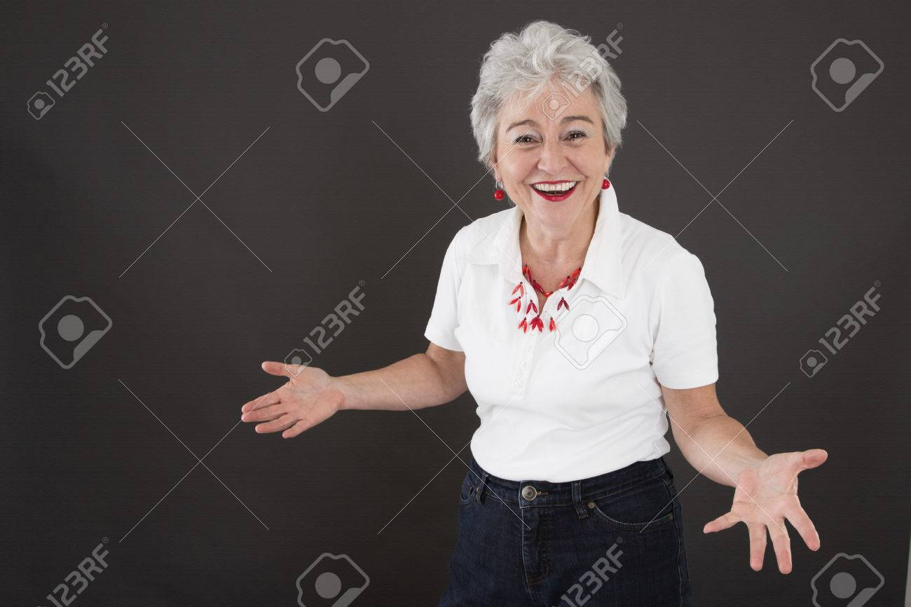 mature woman with lust for life stock photo, picture and royalty