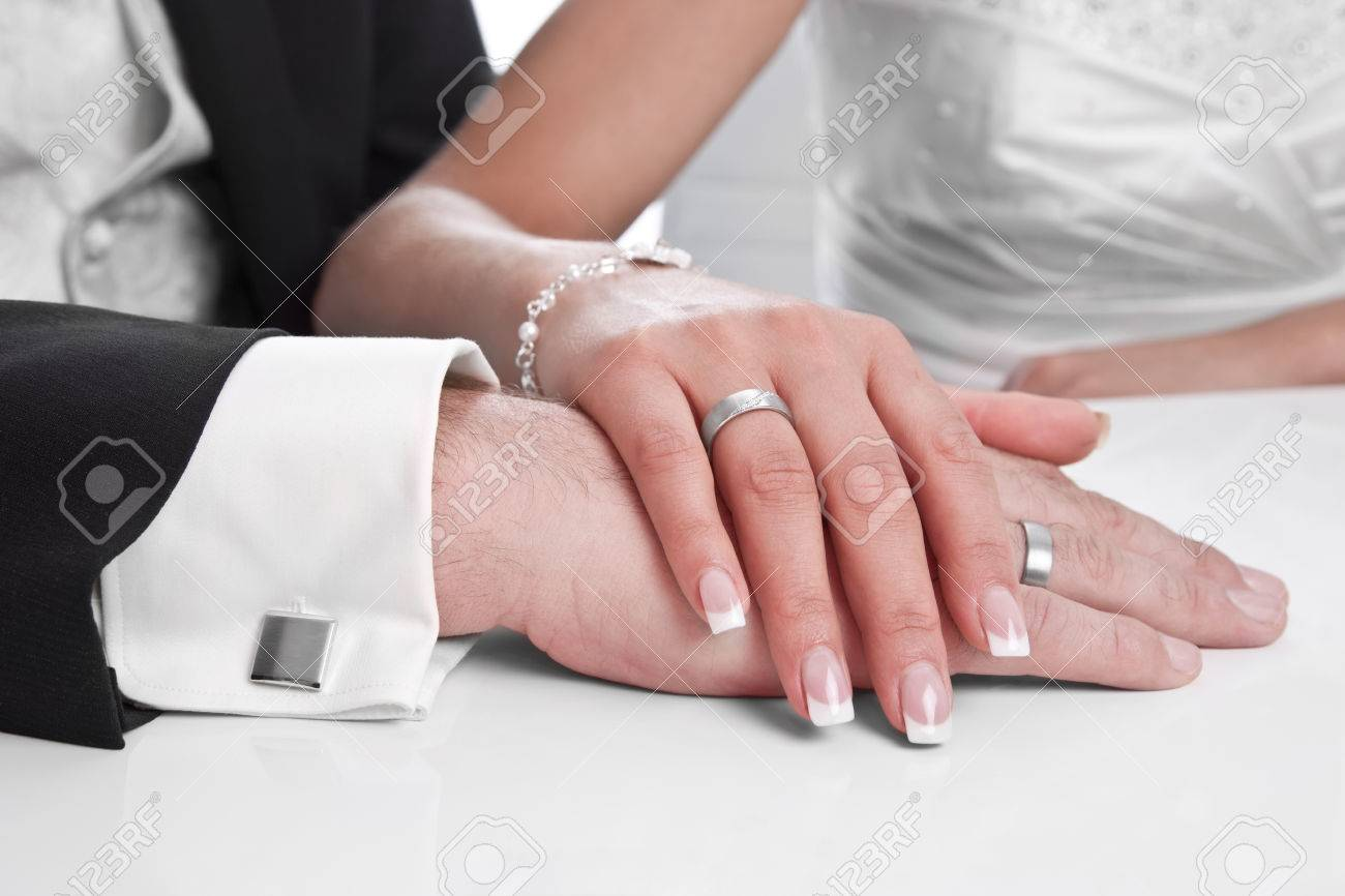 Wedding ring with stone on bride hand marriage wedding stock wedding ring with stone on bride hand marriage wedding stock photo 24542144 junglespirit Images