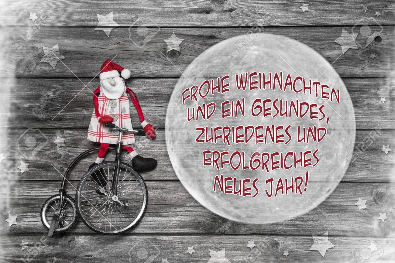 Deutsch Weihnachtsgrußkarte In Rot, Weiß Und Grau Mit Text Frohe ...