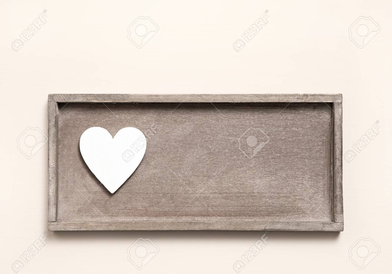 One wooden heart on a sign for a greeting card shabby chic style one wooden heart on a sign for a greeting card shabby chic style for valentines m4hsunfo
