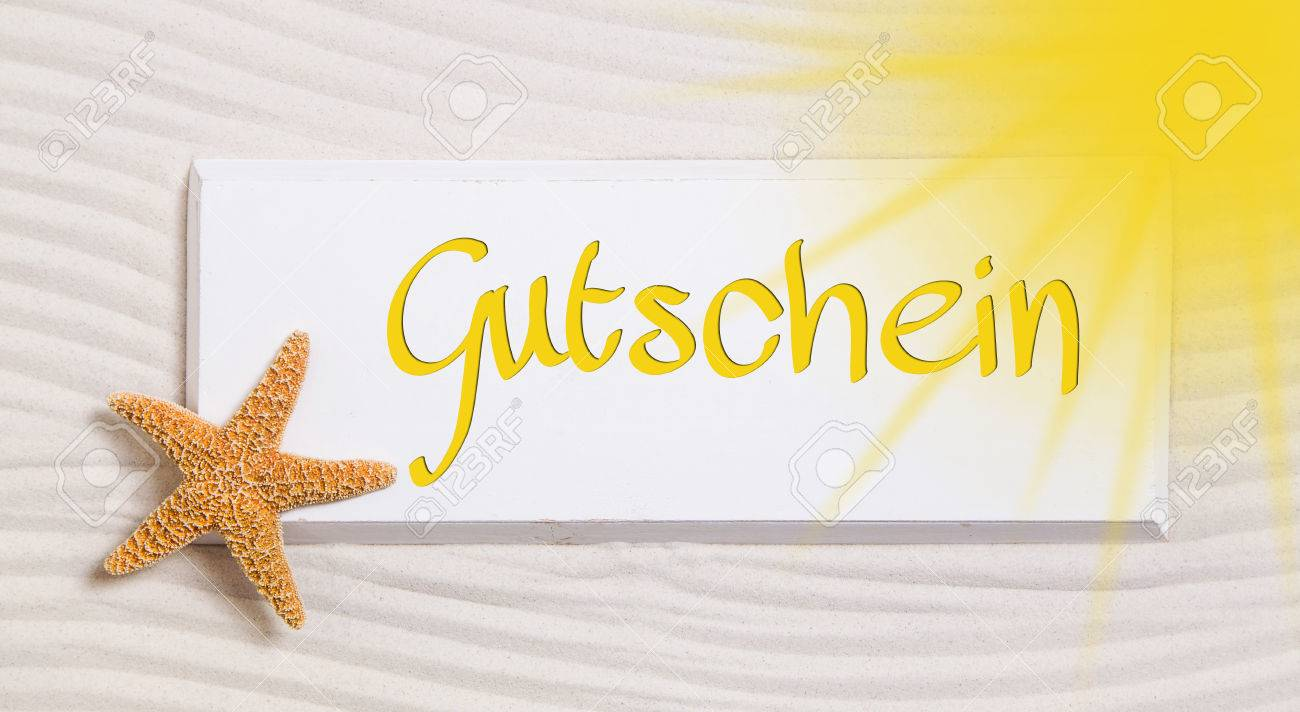 Travel Voucher With The German Word For A Gift Certificate Idea