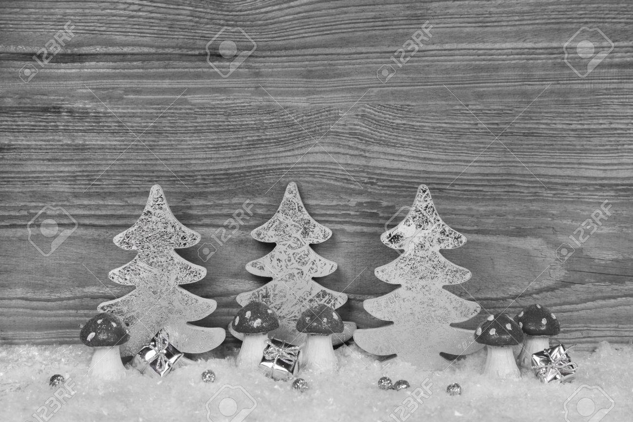 Shabby Chic Natale : Shabby chic christmas background in grey white and silver colors