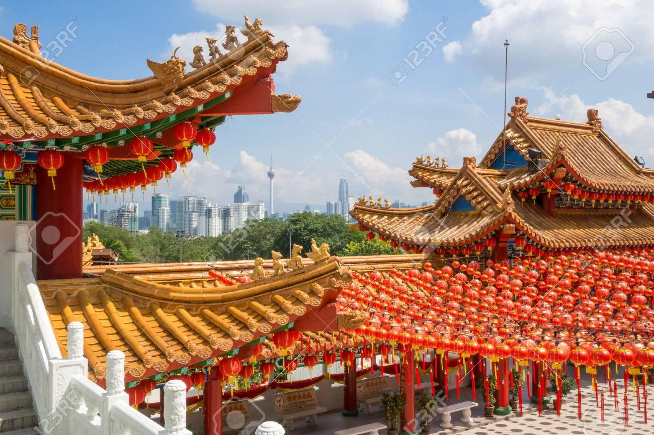 Chinesische Architektur | Die Schone Chinesische Architektur Von Then Hou Tempel Kuala Lumpur