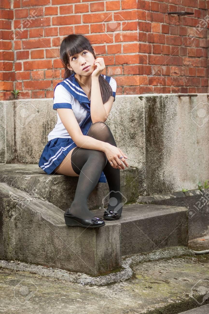 Chinesischen Schulmädchen von Bilder Chinese Schoolgirl