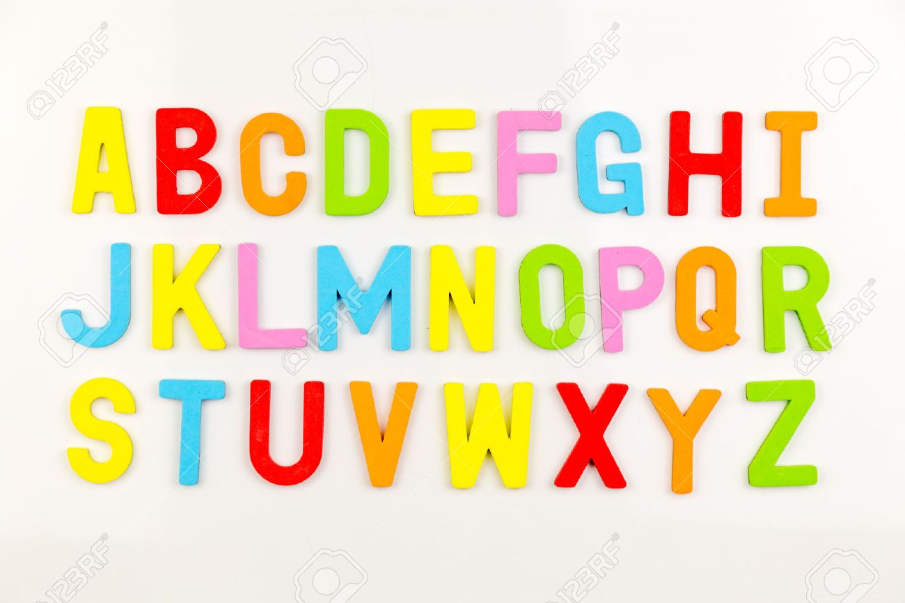 Design Alphabet Magnets colorful alphabet magnets on a whiteboard stock photo picture and 36173370