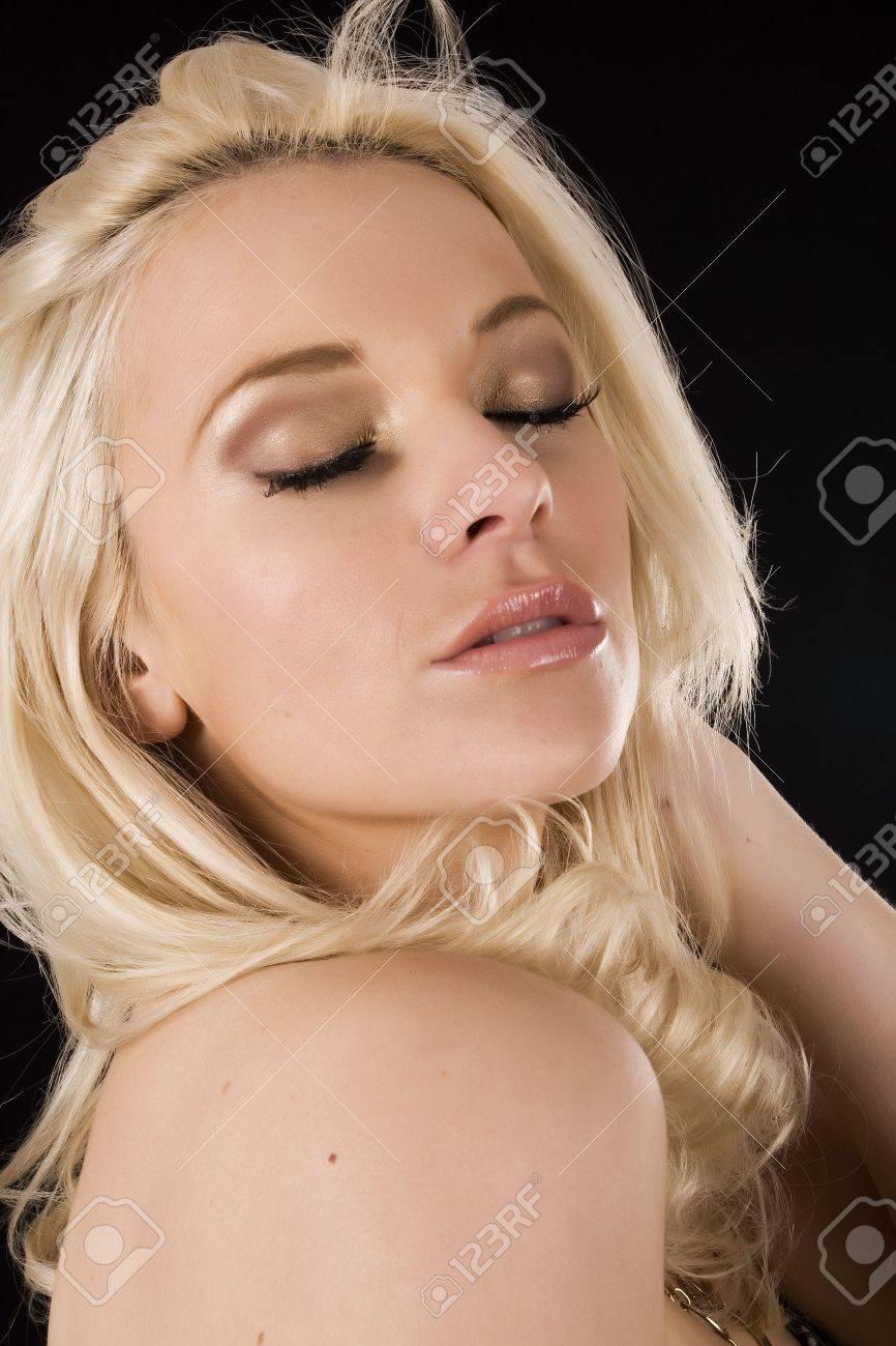 passionate blond Stock Photo - 4133734