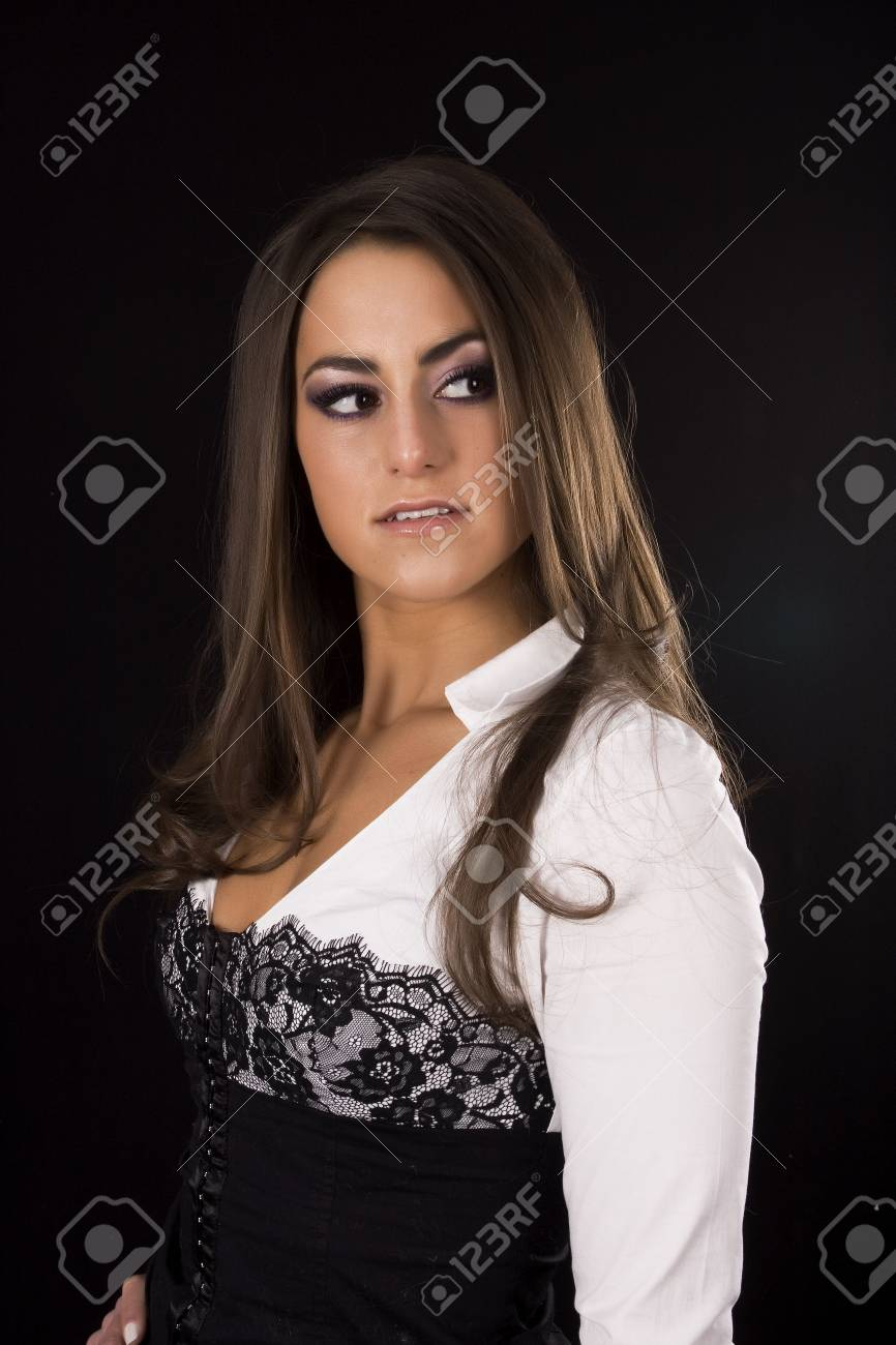 beautiful brunette model Stock Photo - 4188882