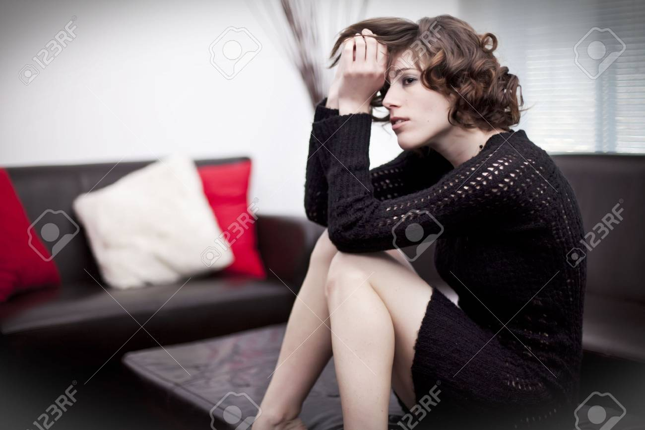 sitting home depressed Stock Photo - 6413631