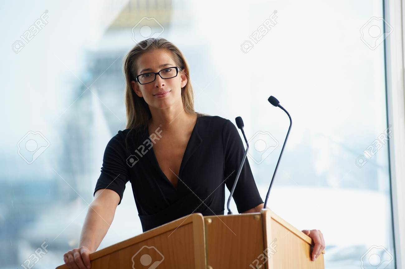 Woman At A Conference - 117922937