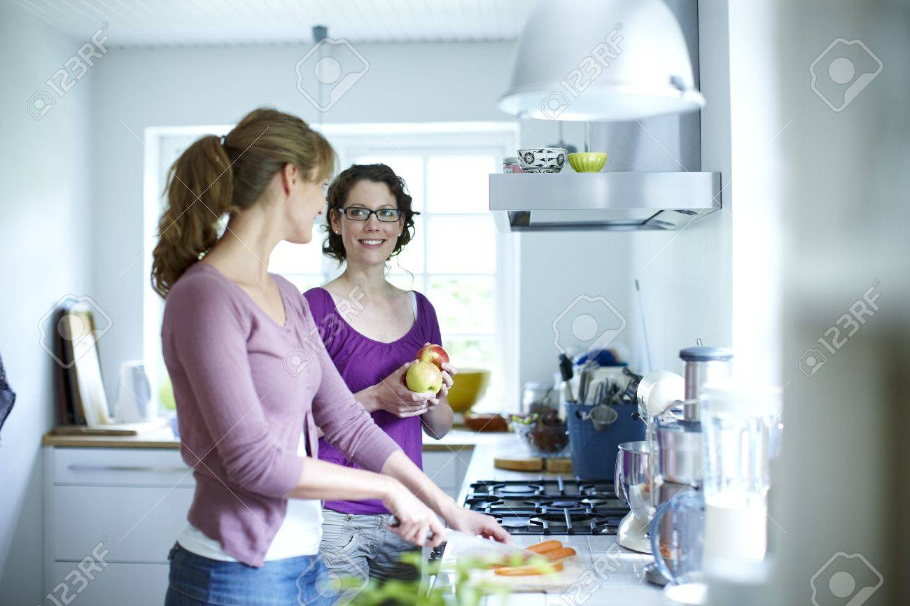 Lesbian sex in the kitchen pic 97