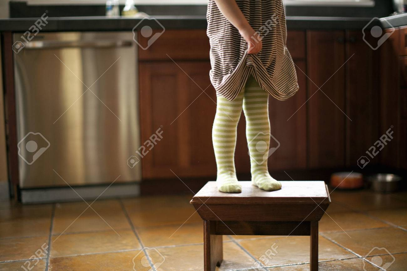 Cropped shot of toddleru0027s legs standing on stool in kitchen Stock Photo - 81326597 : toddler standing stool - islam-shia.org