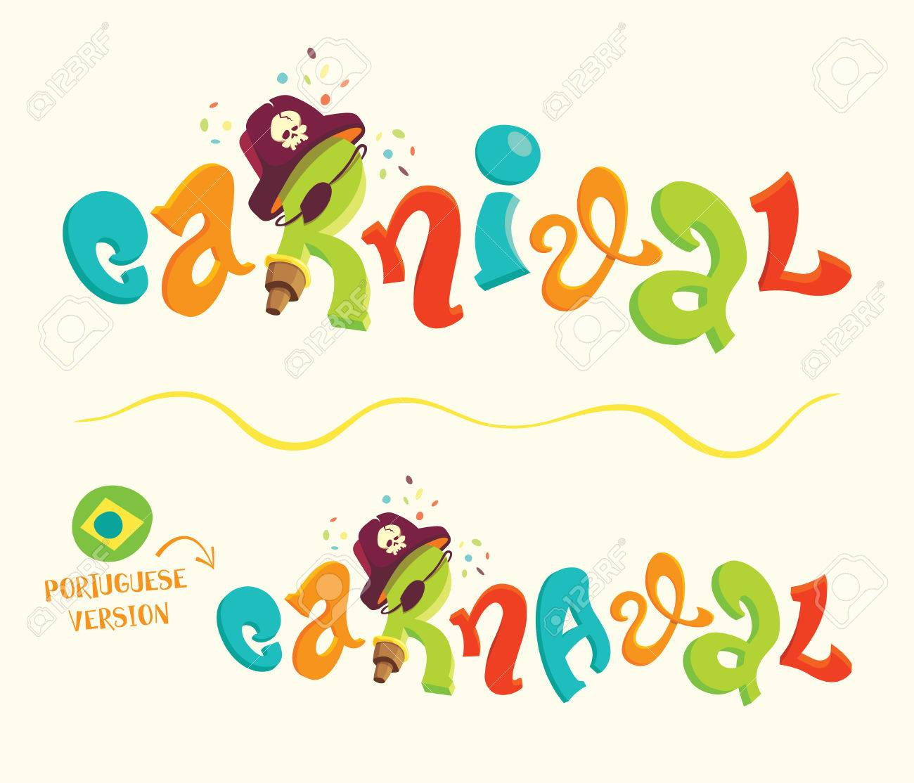 cartoon style vector lettering for carnival themes royalty free