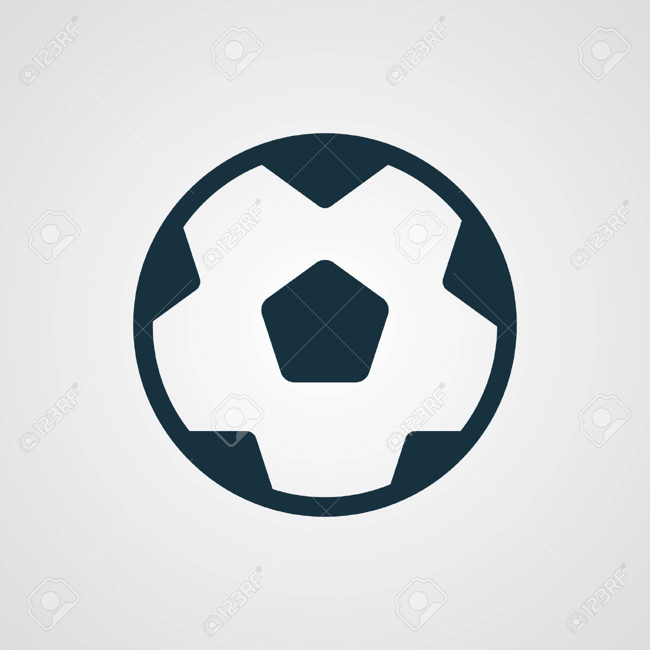 flat football icon royalty free cliparts vectors and stock