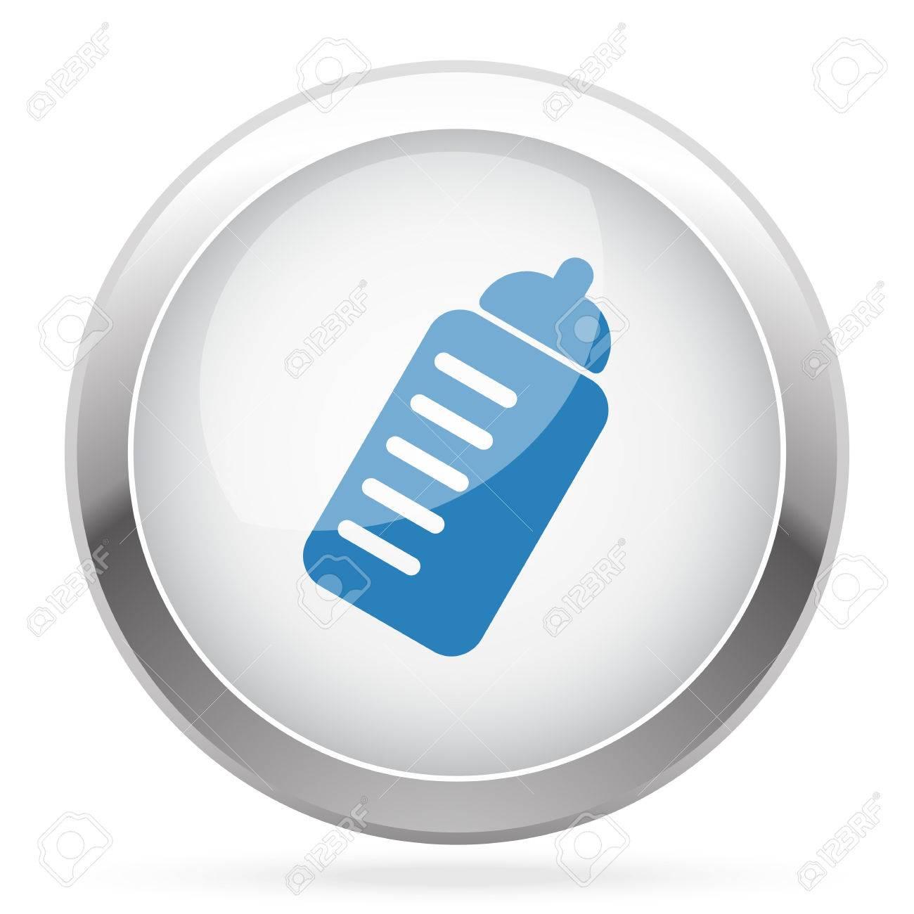 Blau Sport-Getränke-Symbol Auf Weiß Glänzend Chrom App-Taste ...
