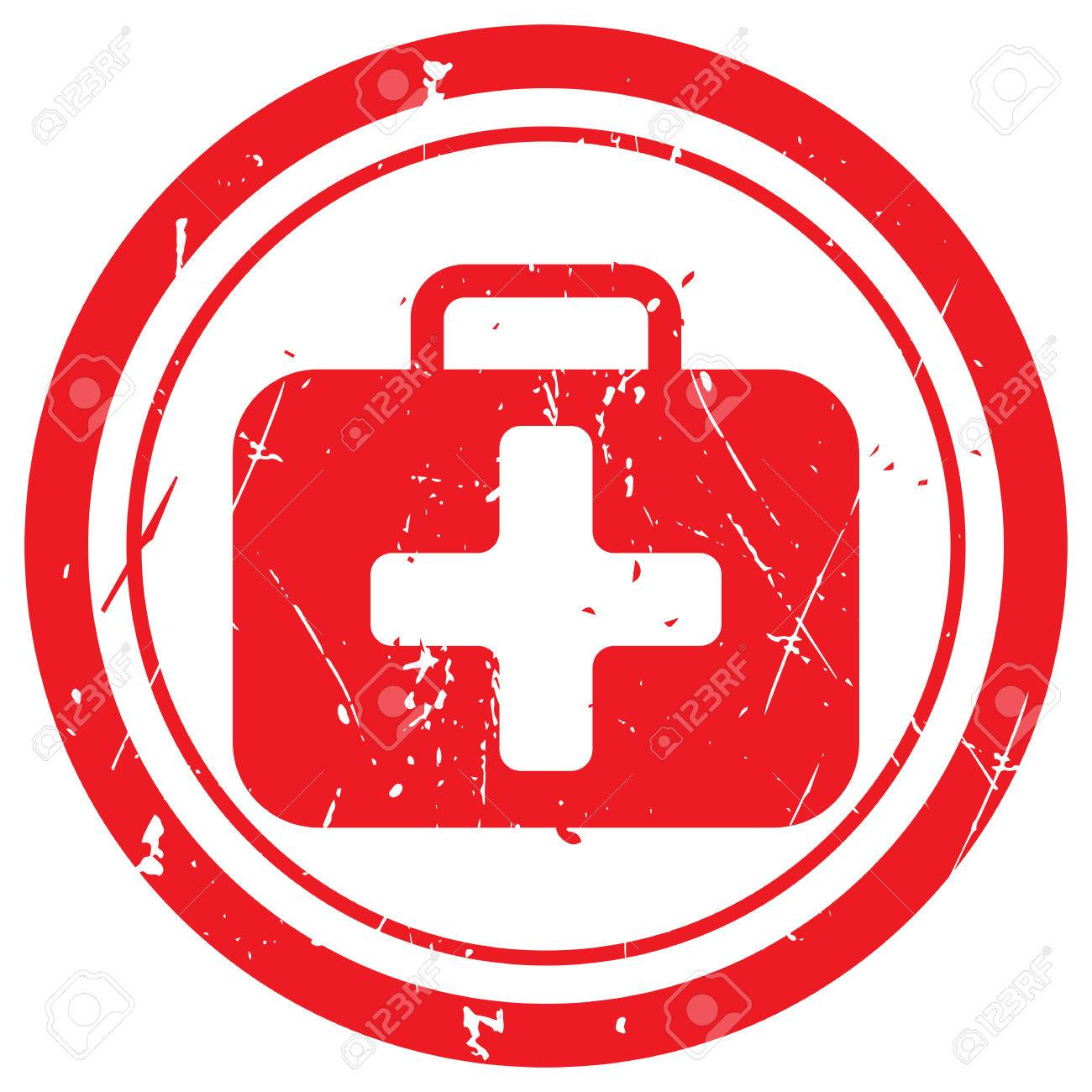 Red First Aid Kit Rubber Stamp Royalty Free Cliparts Vectors And