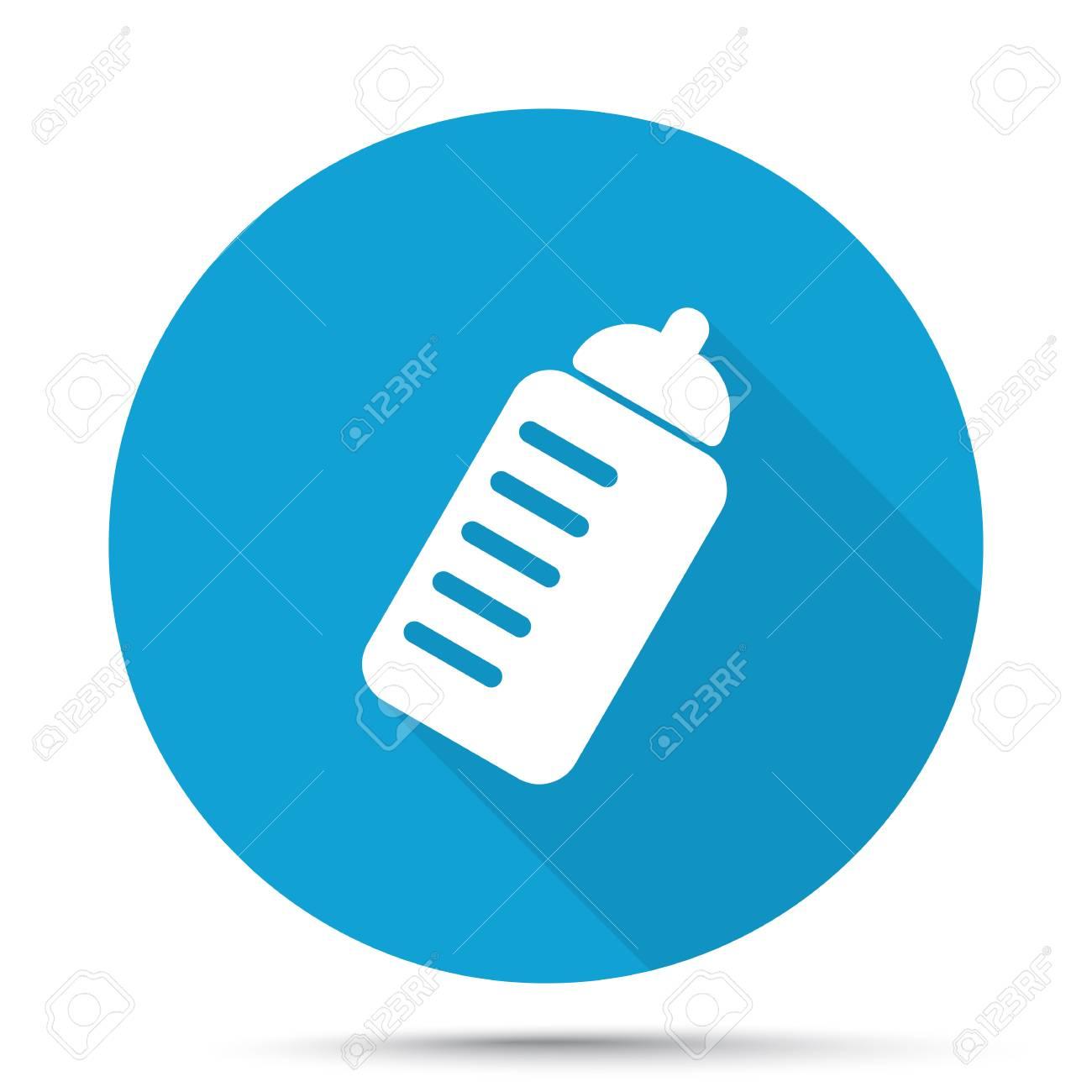 Weiß Sport-Getränke-Symbol Auf Blaue Taste Auf Weißem Hintergrund ...