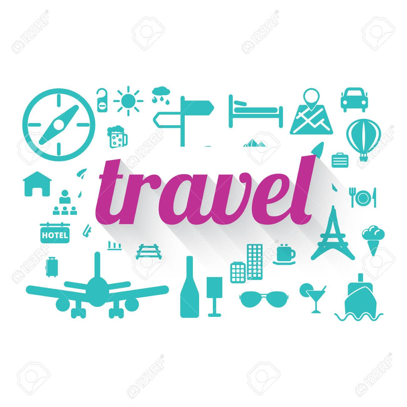 Travel Word Cloud Concept Stock Vector