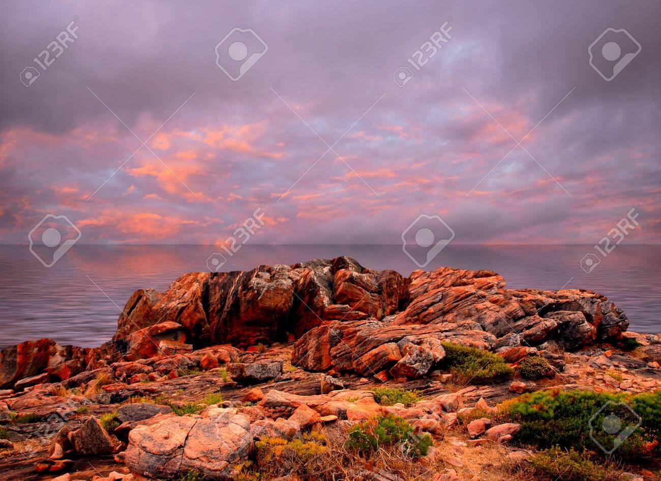 Paisaje de puesta del sol Foto de archivo - 6912191