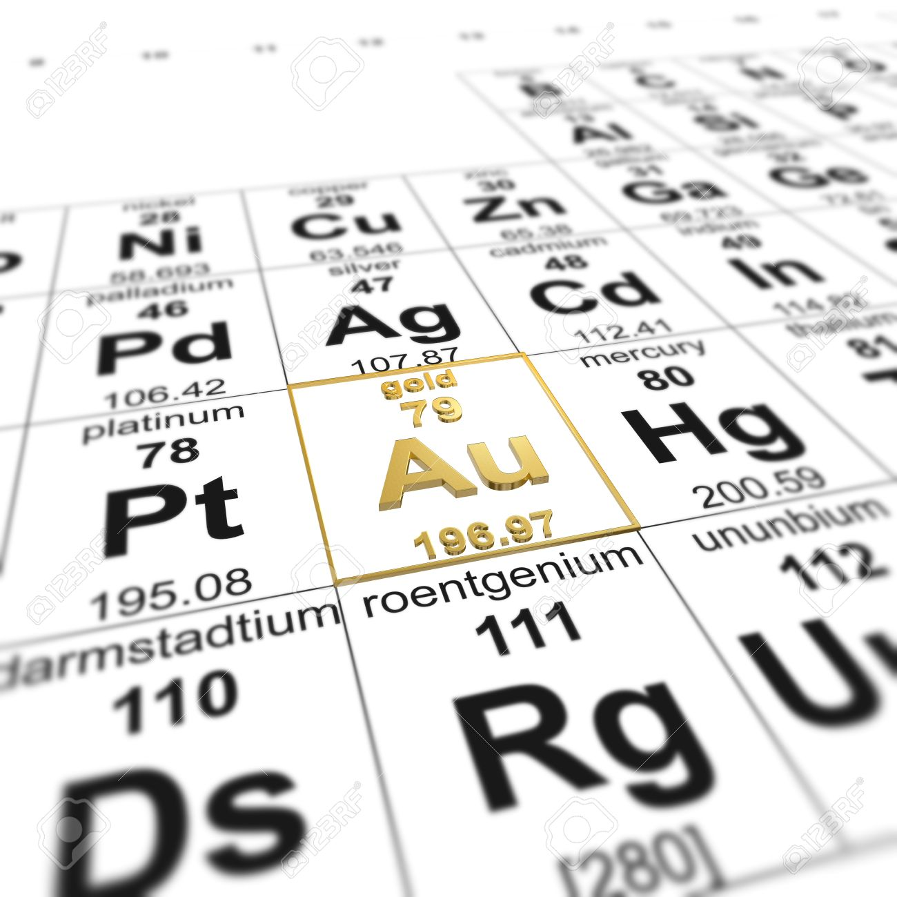Periodic table of elements focused on gold stock photo picture and periodic table of elements focused on gold stock photo 20109195 urtaz Image collections