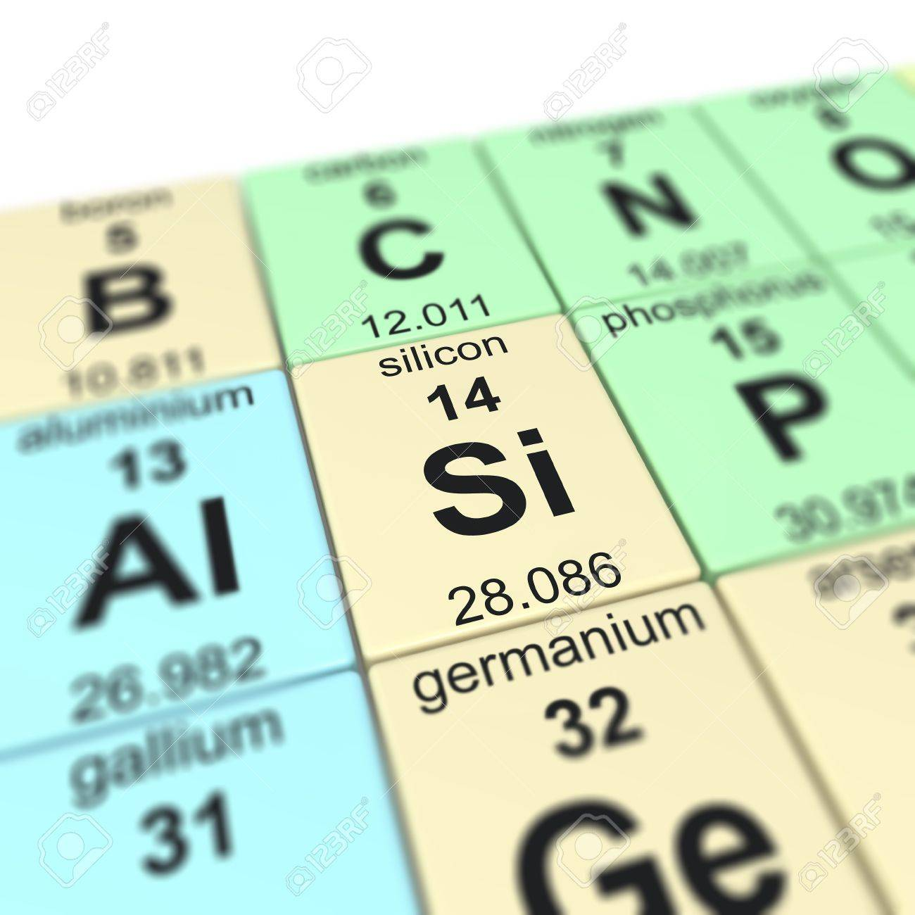 Periodic table of elements focused on silicon stock photo periodic table of elements focused on silicon stock photo 20109190 biocorpaavc Gallery
