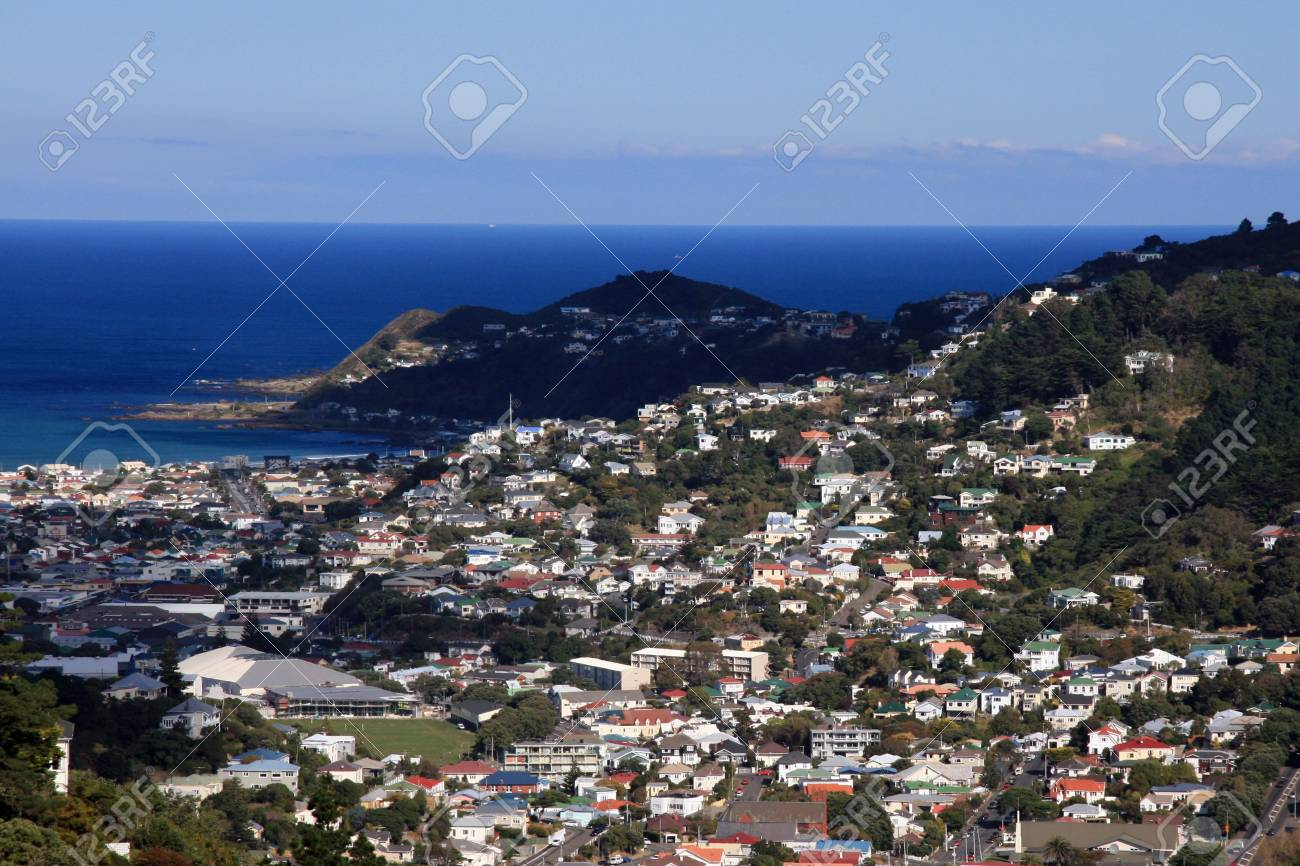 View From Mt Victoria Wellington New Zealand Stock Photo Picture