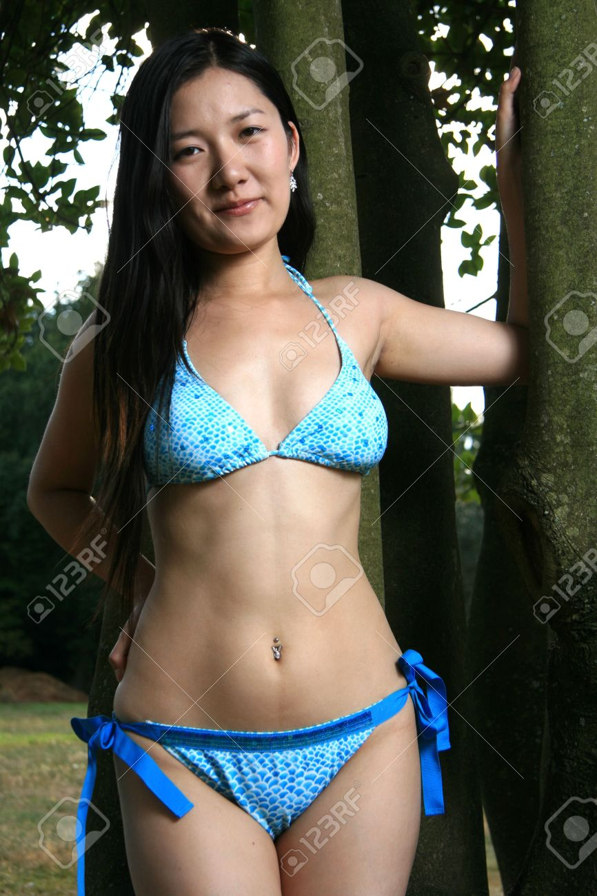 Photos of asian bikini models playing around