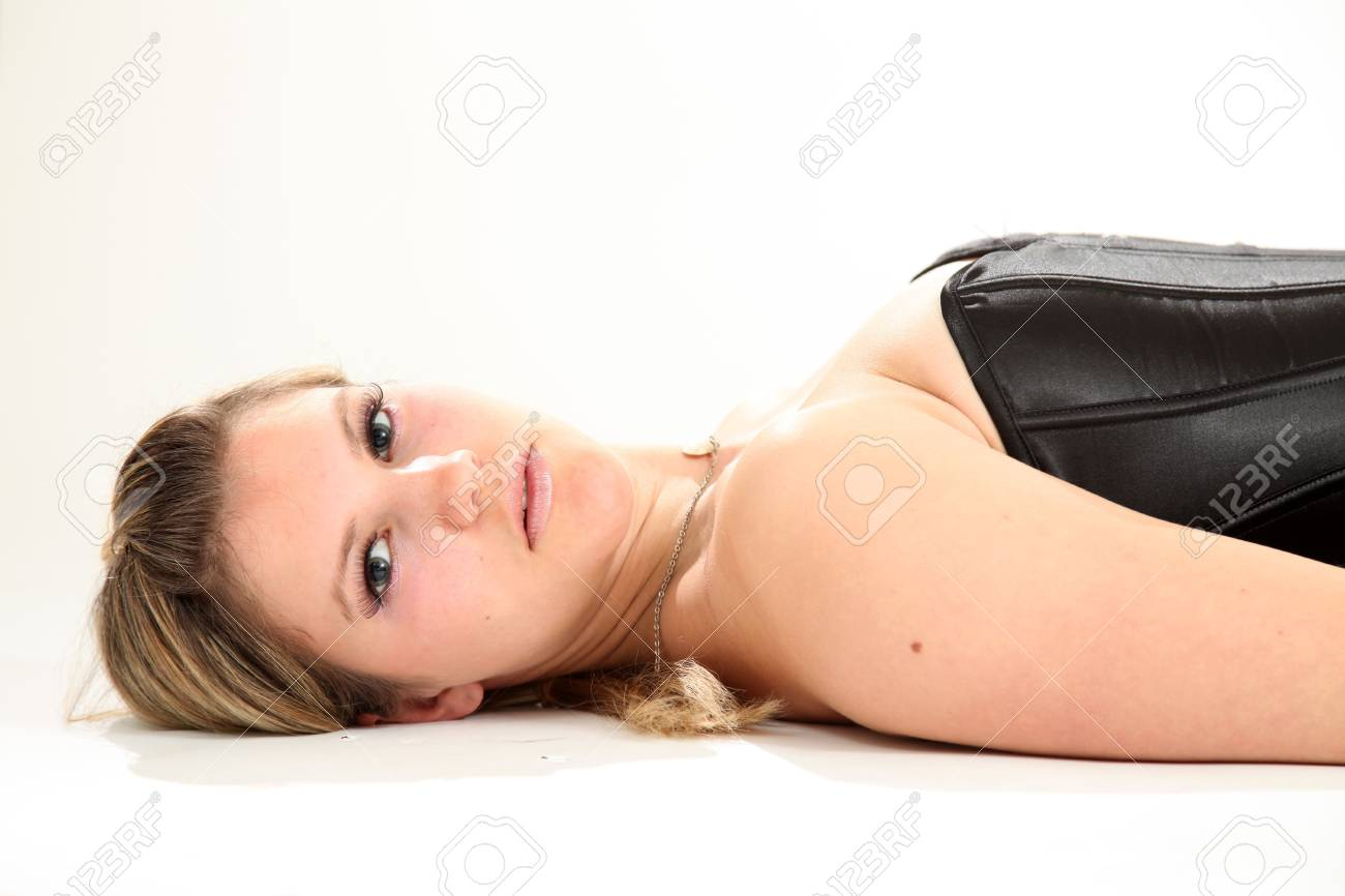 Beautiful Young Caucasian Woman in Isolated Studio Setting Stock Photo - 4749576