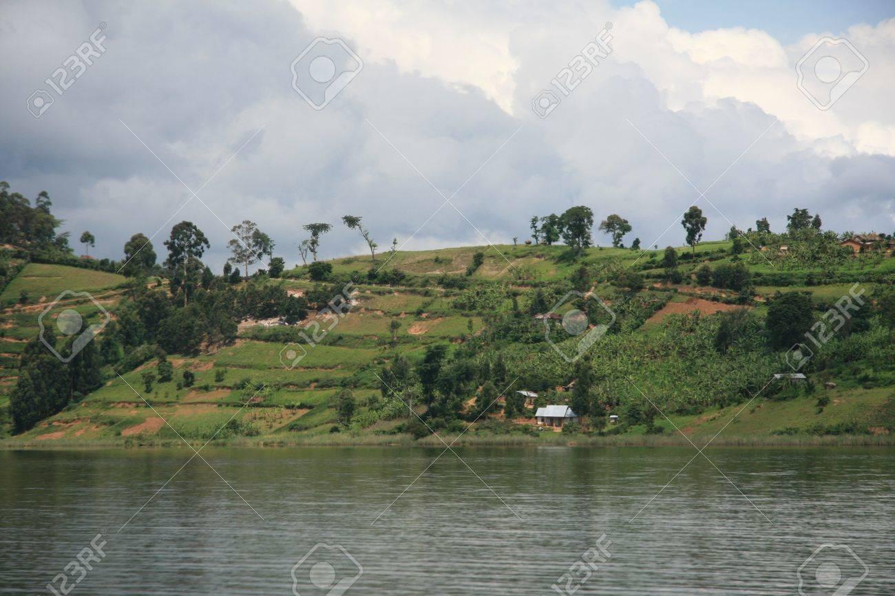 Lake Bunyoni, Kisori District, Uganda in East Africa Stock Photo - 14625131