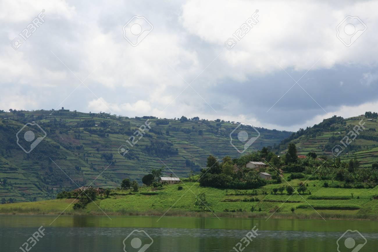 Lake Bunyoni, Kisori District, Uganda in East Africa Stock Photo - 14625171