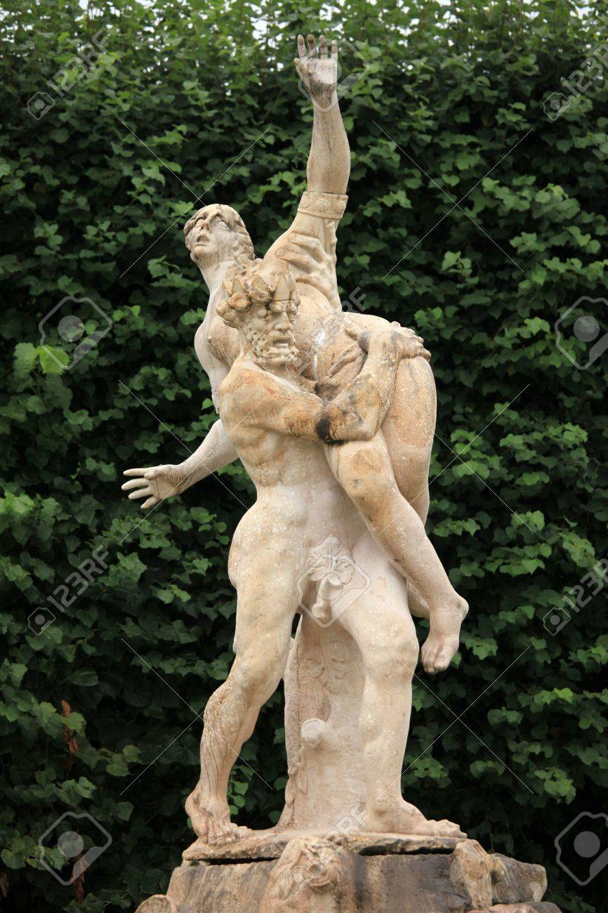 Statue At Mirabell Gardens In Salzburg City In Austria, Europe Stock Photo    14841441