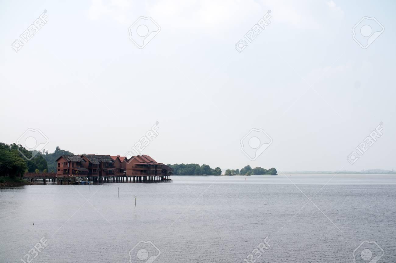 Orangutan Conservation Island at Bukit Merah,Malaysia Stock Photo - 19183318