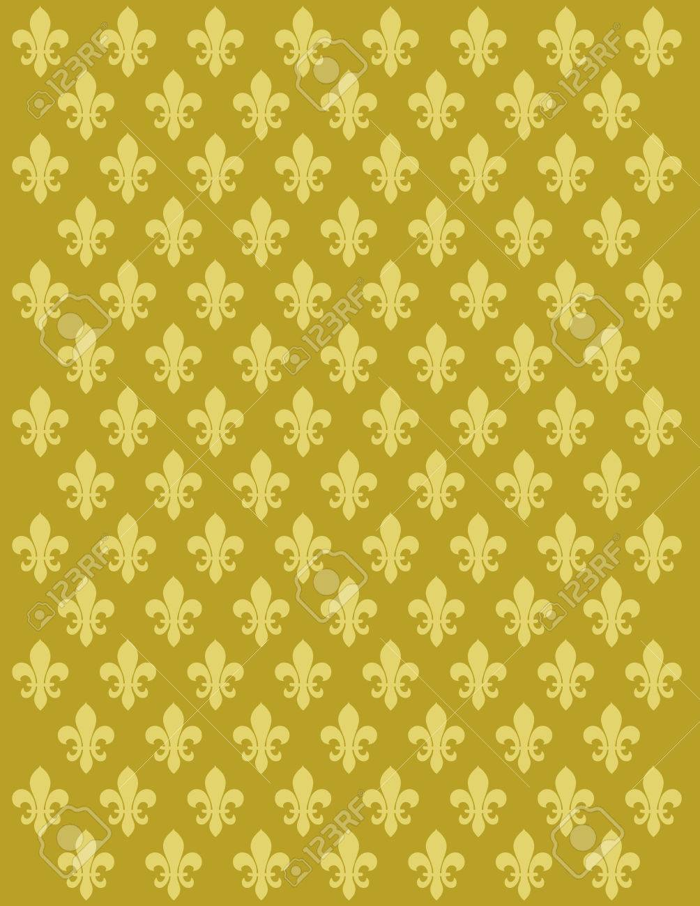 French Lily Flower Motif Background Vector Design Royalty Free