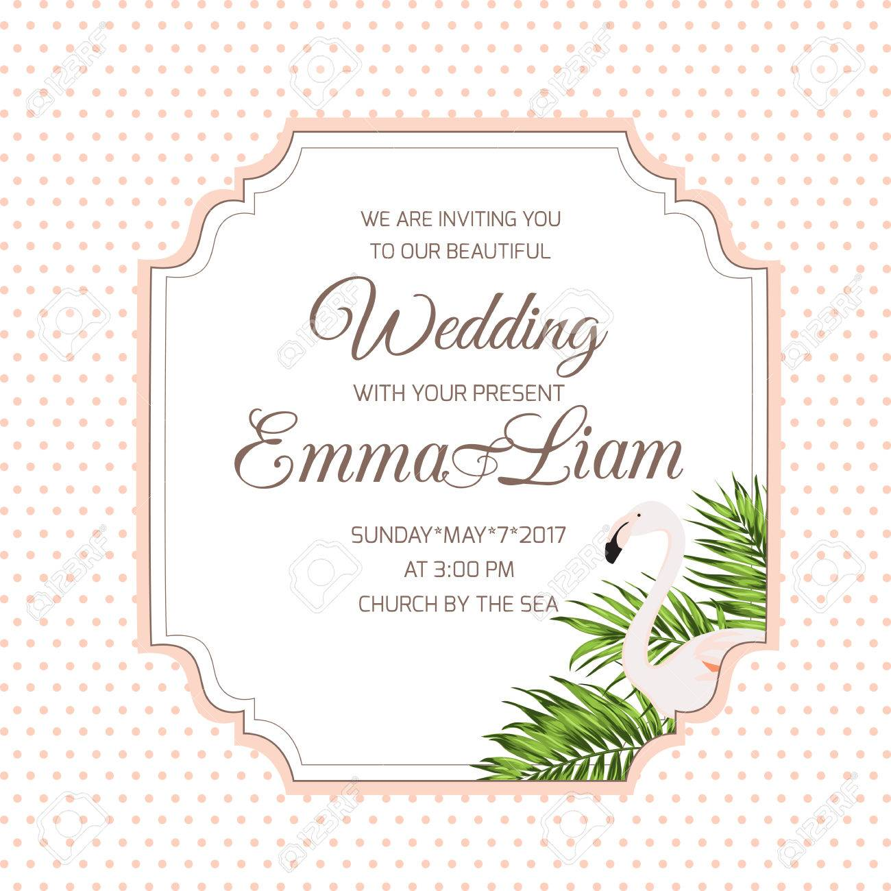 wedding marriage event invitation rsvp card template border