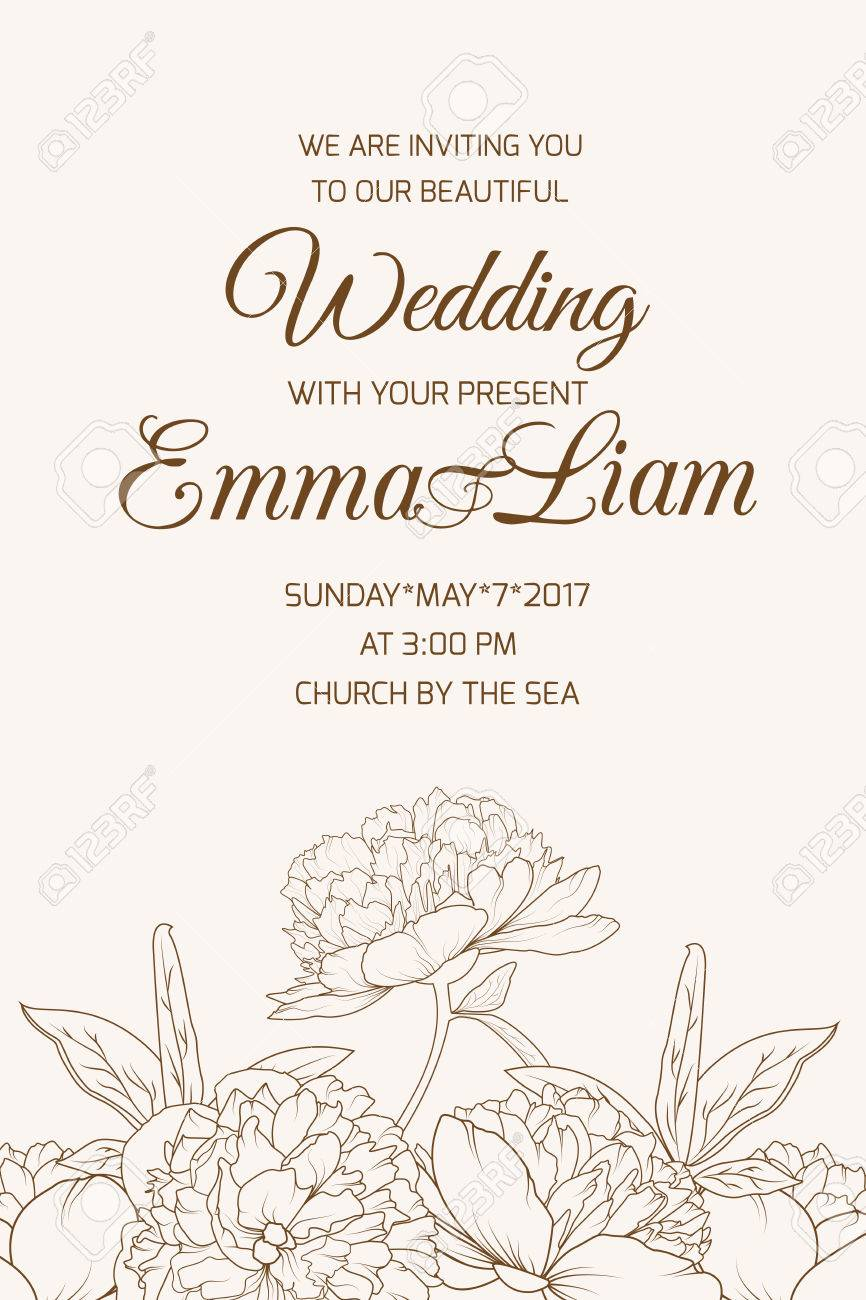 Wedding Marriage Event Celebration Invitation. RSVP Template ...