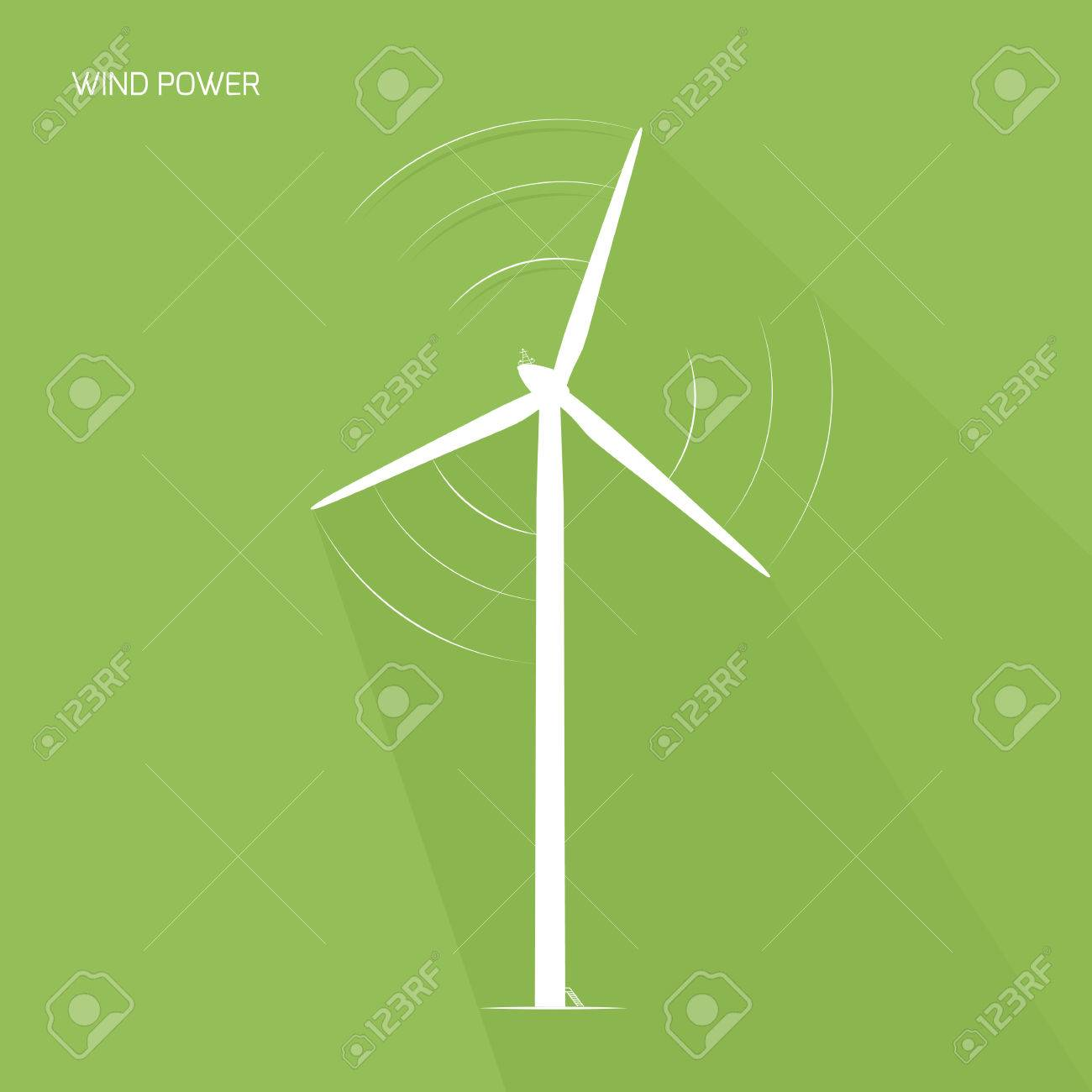 Wind turbine tower renewable ecological energy generation concept logo icon wind turbine tower renewable ecological energy generation concept power plant windmill generator with rotating voltagebd Image collections