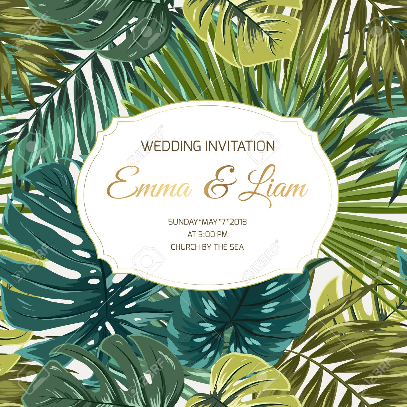 Wedding Marriage Event Invitation Card Template Rsvp Save The
