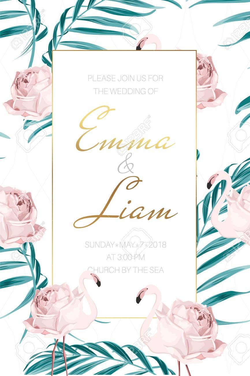 wedding marriage event invitation card border frame template
