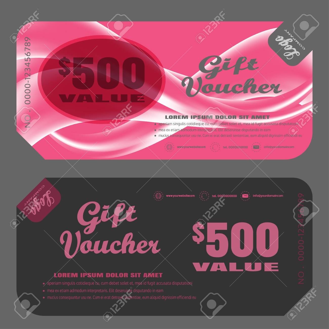 blank of gift voucher vector illustration to increase sales on
