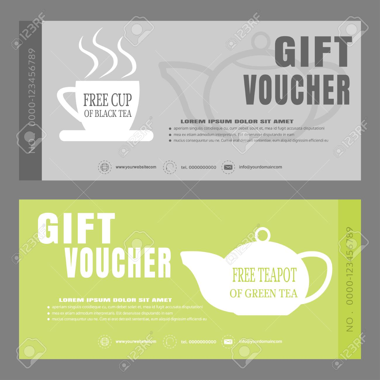 blank of gift voucher vector illustration to increase the sales