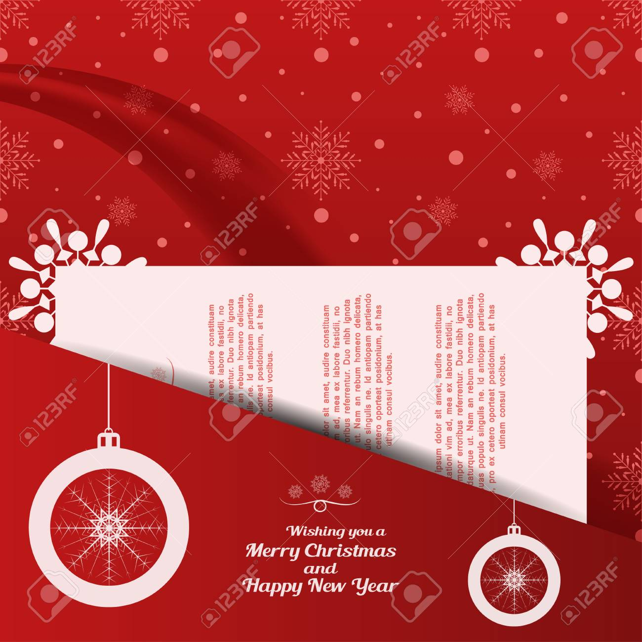 Vector Greetings Envelope Of Wishing You A Merry Christmas And