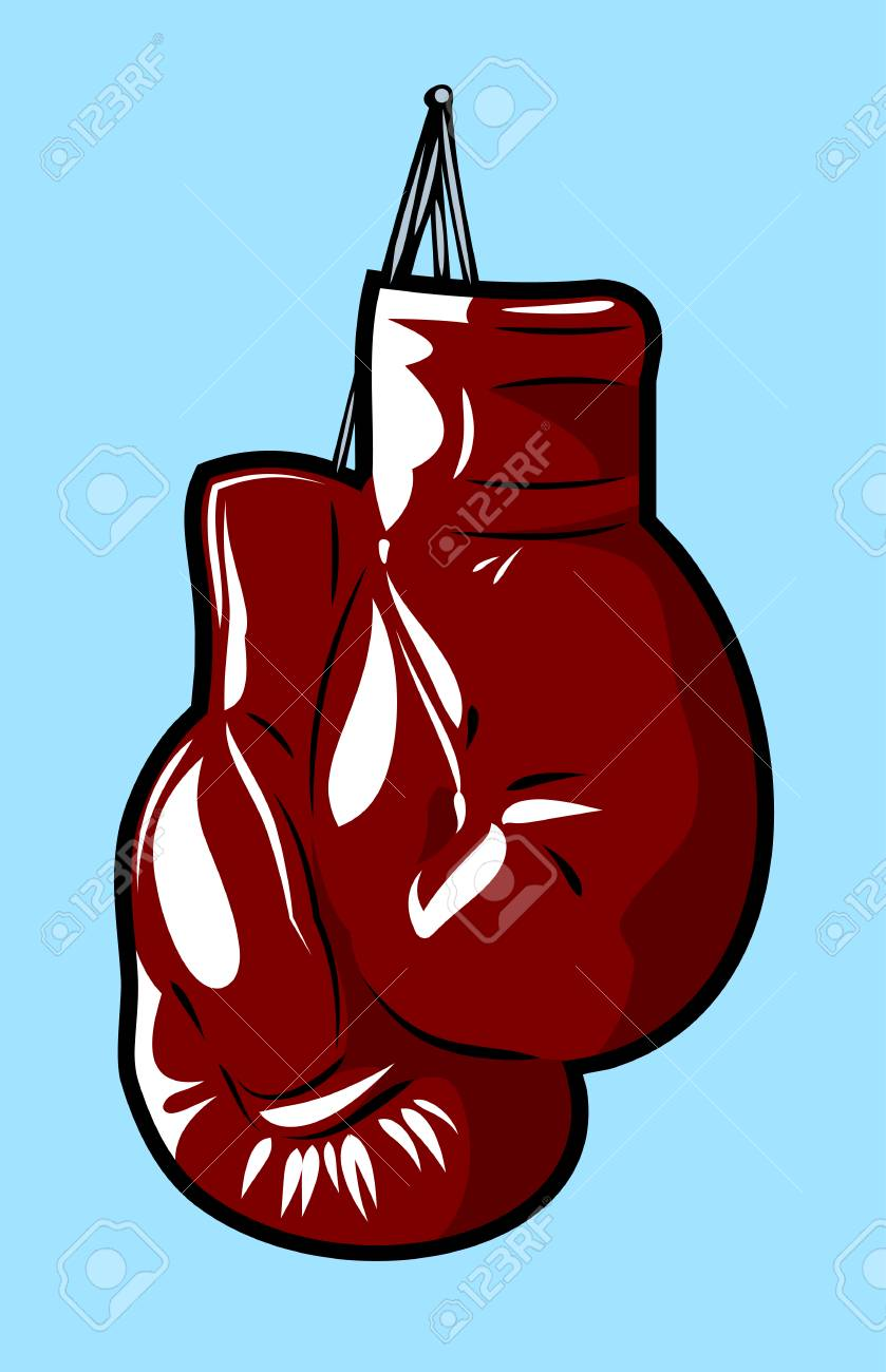 Boxing gloves in the old school style