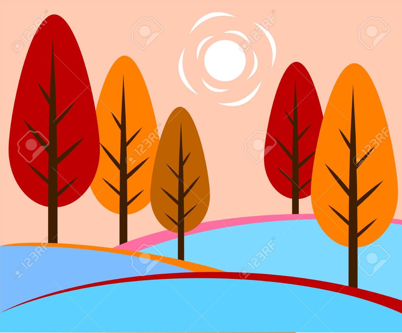 autumn landscape - 122683807